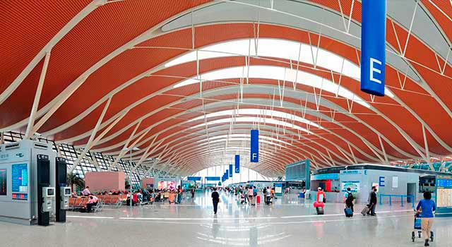 There are two terminals in Shanghai Pudong Airport.