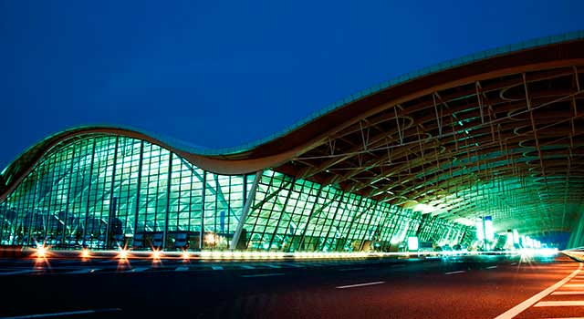 Shanghai Pudong Airport (IATA: PVG) is international airport in Shanghai.